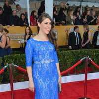 Mayim Bialik en la alfombra roja de los Screen Actors Guild Awards 2013