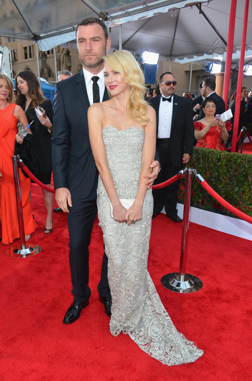 Naomi Watts y Liev Schreiber en la alfombra roja de los Screen Actors Guild Awards 2013