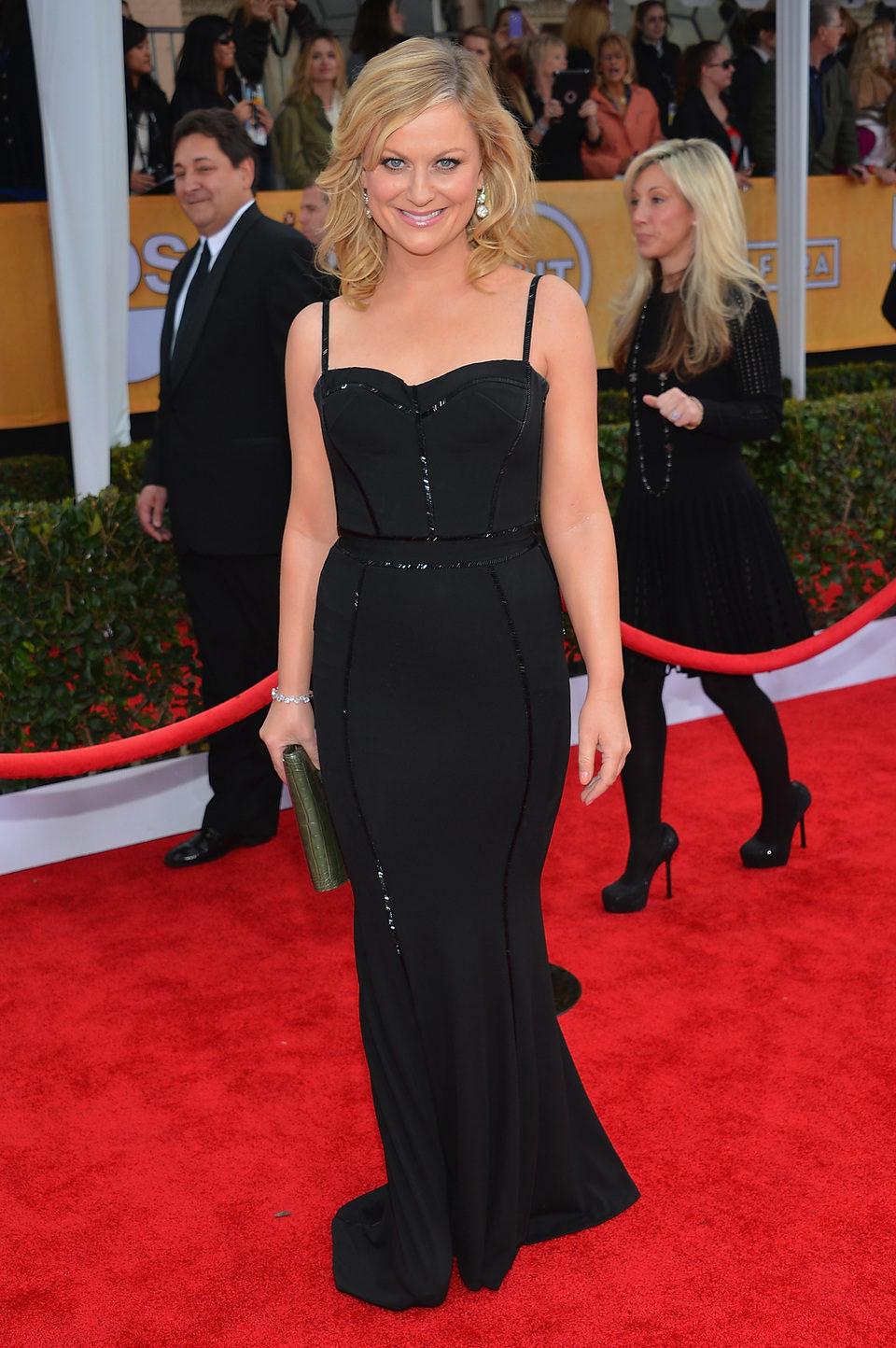 Amy Poehler en la alfombra roja de los Screen Actors Guild Awards 2013