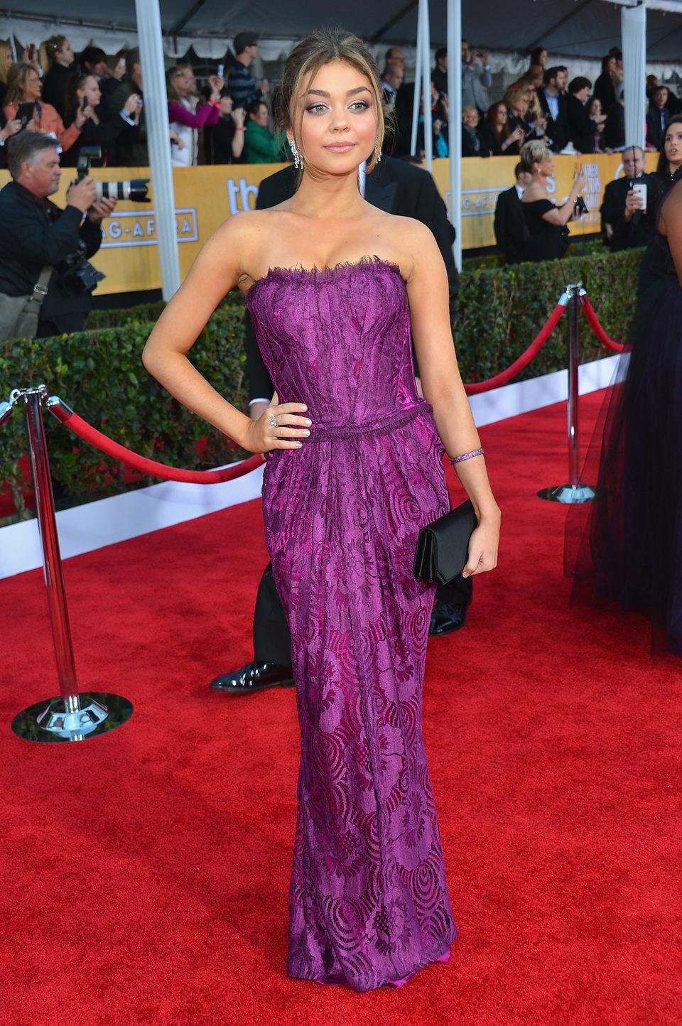 Sarah Hyland en la alfombra roja de los Screen Actors Guild Awards 2013