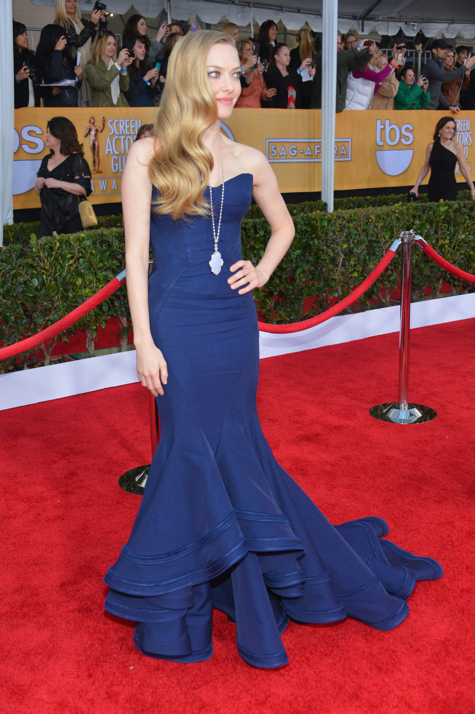 Amanda Seyfried en la alfombra roja de los Screen Actors Guild Awards 2013
