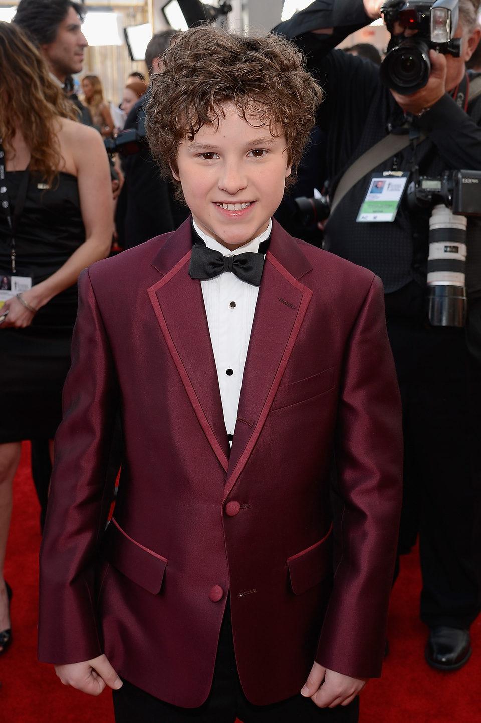Nolan Gould en la alfombra roja de los Screen Actors Guild Awards 2013