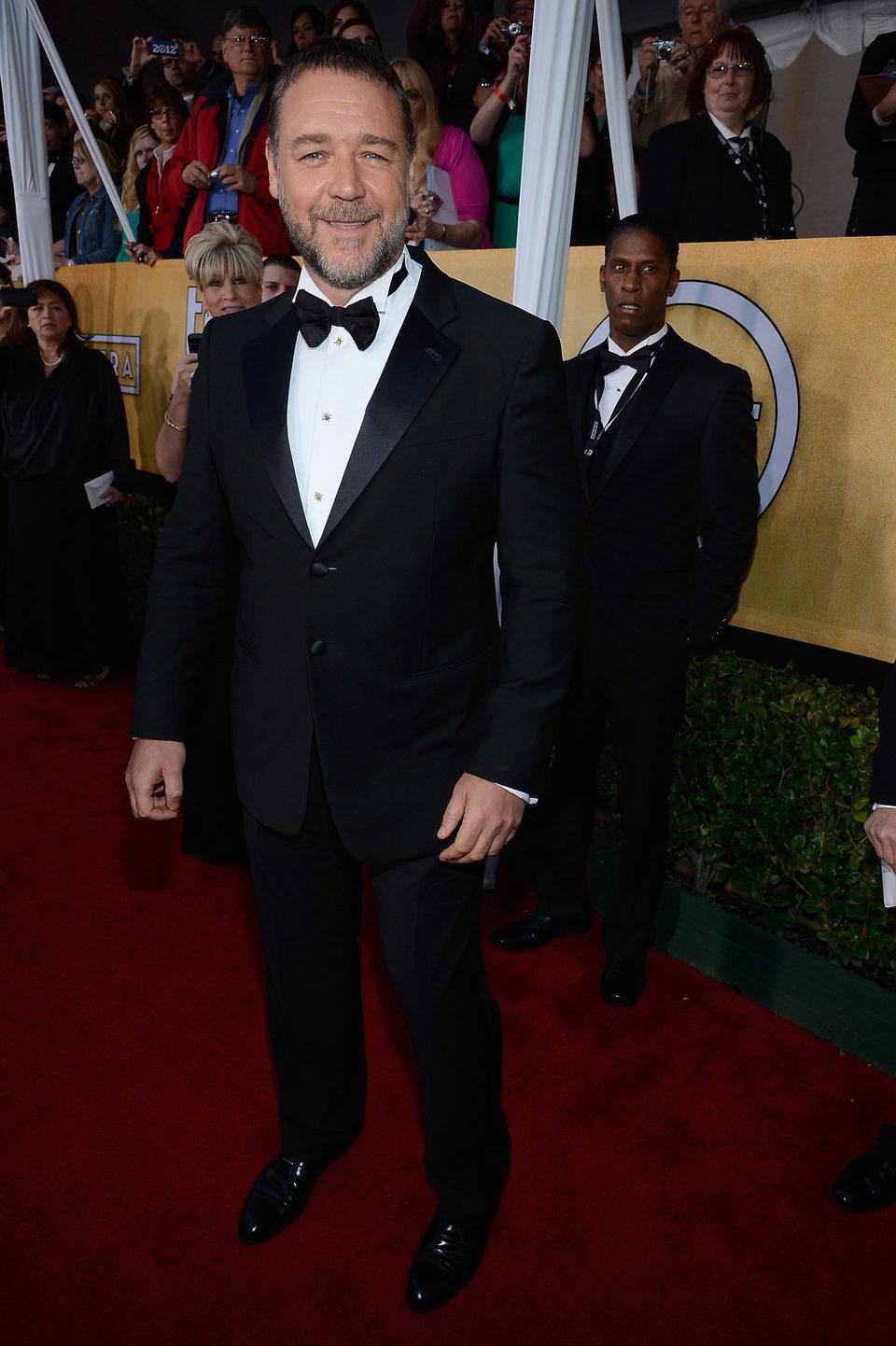Russell Crowe en la alfombra roja de los Screen Actors Guild Awards 2013