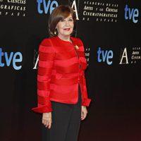Concha Velasco en la cena de los nominados a los Goya 2013