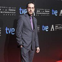 Enrique Gato en la cena de los nominados a los Goya 2013