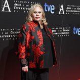 Carmina Barrios en la cena de los nominados a los Goya 2013