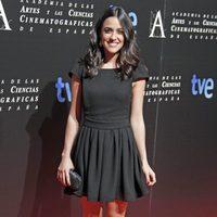 Macarena García en la cena de los nominados a los Goya 2013