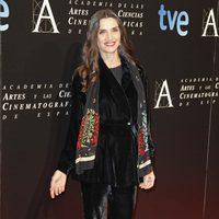Ángela Molina en la cena de los nominados a los Goya 2013