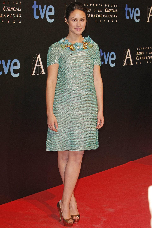 Aida Folch en la cena de los nominados a los Goya 2013