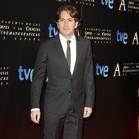 Antonio Garrido en la cena de los nominados a los Goya 2013
