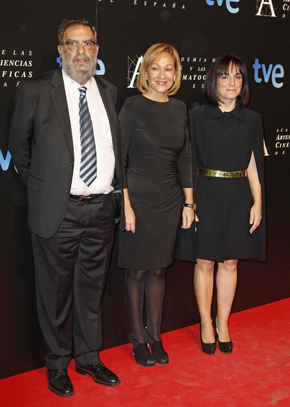 Enrique González Macho en la cena de los nominados a los Goya 2013