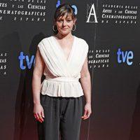 Estefanía de los Santos en la cena de los nominados a los Goya 2013