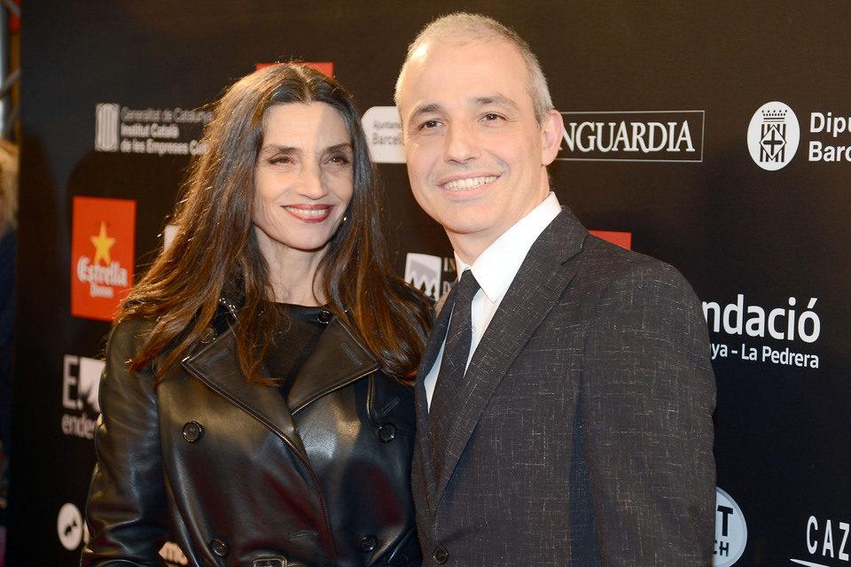 Ángela Molina y Pablo Berger en la alfombra roja de los Premios Gaudí 2013