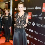 Mercè Llorens en la alfombra roja de los Premios Gaudí 2013