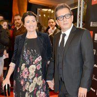 Silvia Abril y Andreu Buenafuente en la alfombra roja de los Premios Gaudí 2013