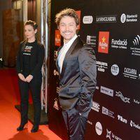 Jan Cornet en la alfombra roja de los Premios Gaudí 2013