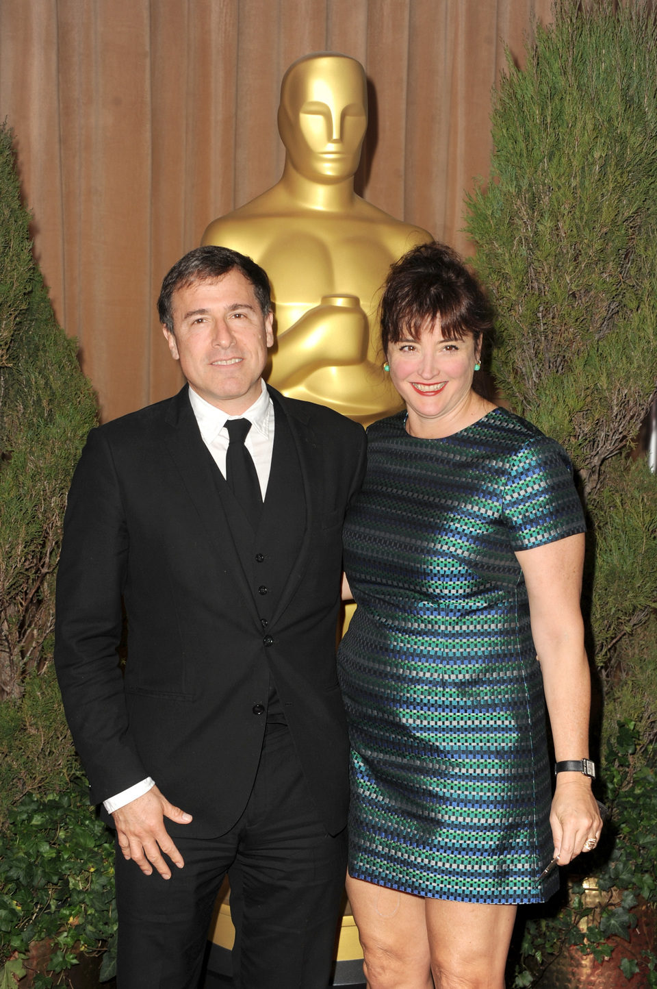David O. Russell en el almuerzo de los nominados a los Oscar 2013