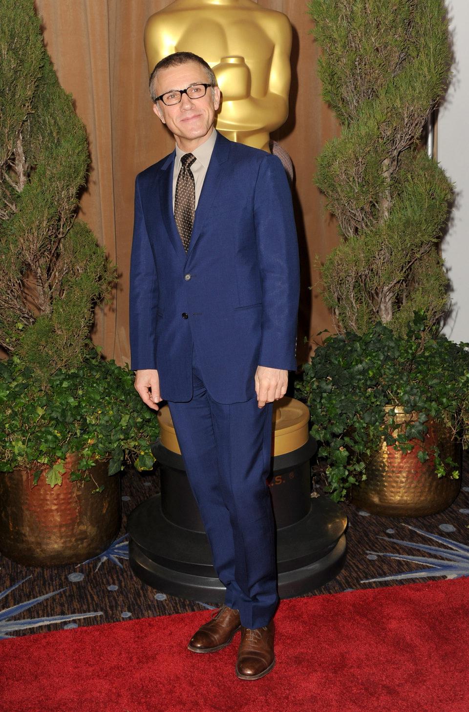 Christoph Waltz en el almuerzo de los nominados a los Oscar 2013