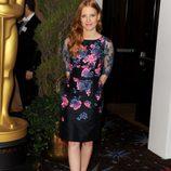 Jessica Chastain en el almuerzo de los nominados a los Oscar 2013