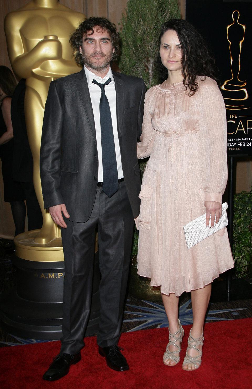 Joaquin Phoenix en el almuerzo de los nominados a los Oscar 2013