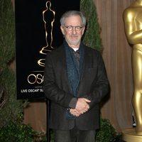Steven Spielberg en el almuerzo de los nominados a los Oscar 2013