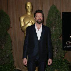 Hugh Jackman en el almuerzo de los nominados a los Oscar 2013