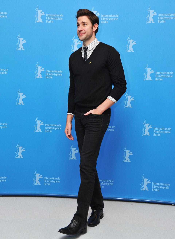John Krasinski en la presentación de 'Tierra prometida' en la Berlinale