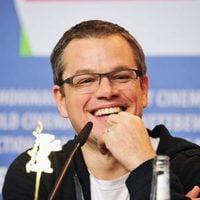 Matt Damon en la rueda de prensa de 'Tierra prometida' en la Berlinale