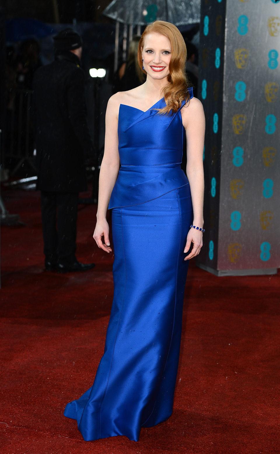 Jessica Chastain en los BAFTA 2013