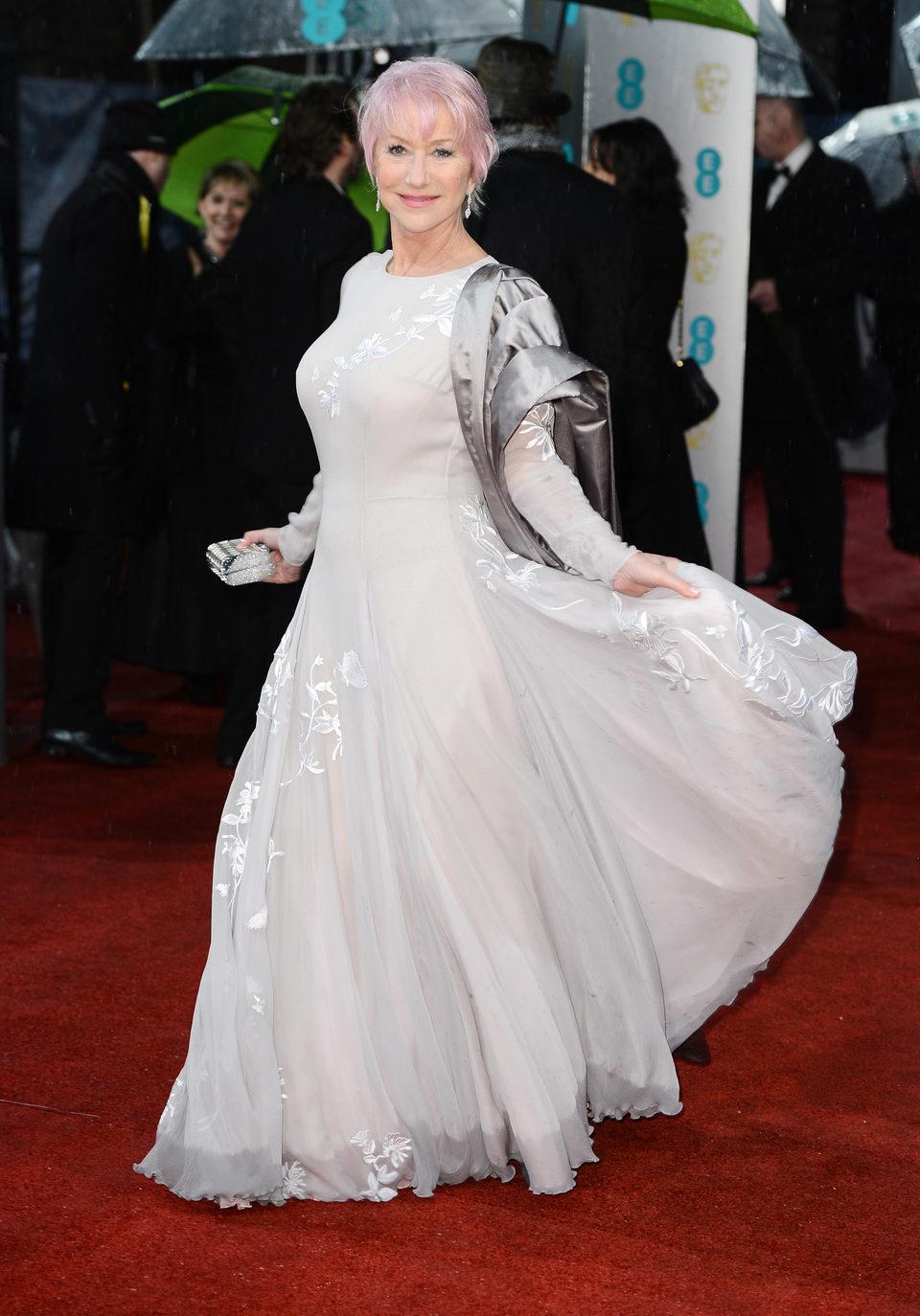 Helen Mirren en los BAFTA 2013