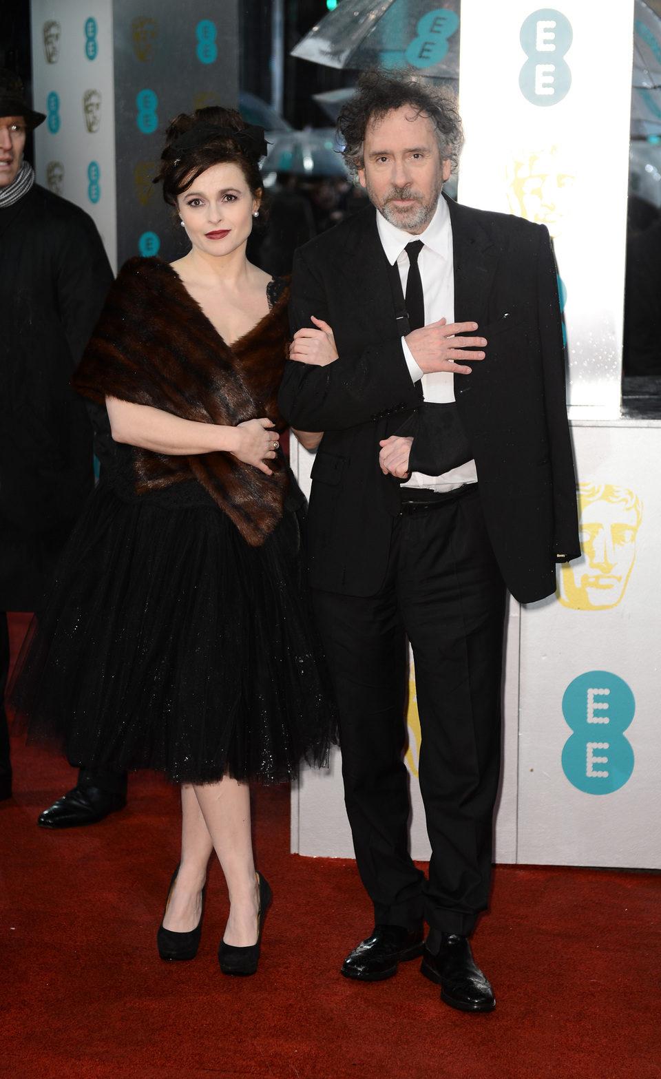 Helena Bonham Carter y Tim Burton en los BAFTA 2013