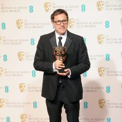 David O. Russell posa con su BAFTA 2013