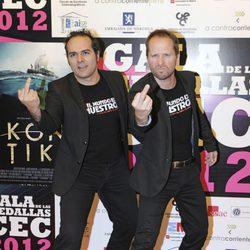 Alberto López y Alfonso Sánchez en la entrega de medallas del CEC 2013