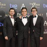 Julián López, Ernesto Sevilla y Joaquín Reyes en los Goya 2013
