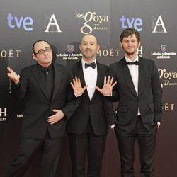 Carlos Areces, Javier Cámara y Raul Arévalo en los Goya 2013