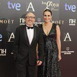 Fernando Guillén Cuervo y Ana Milán en la alfombra roja de los Goya 2013