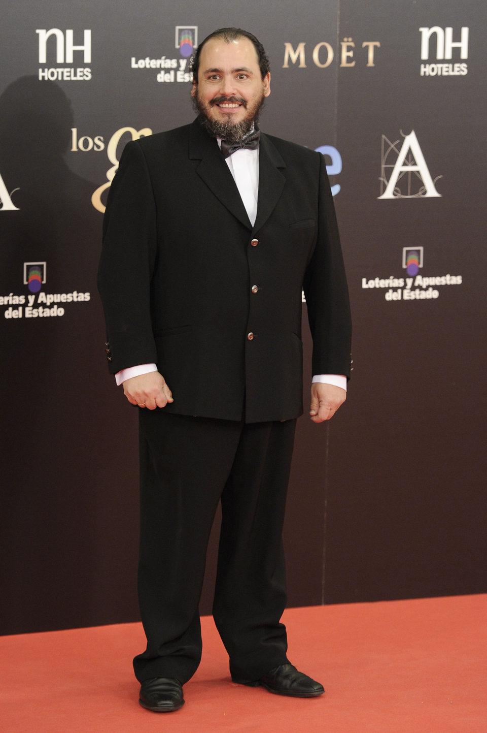 Joaquín Núñez en la alfombra roja de los Goya 2013