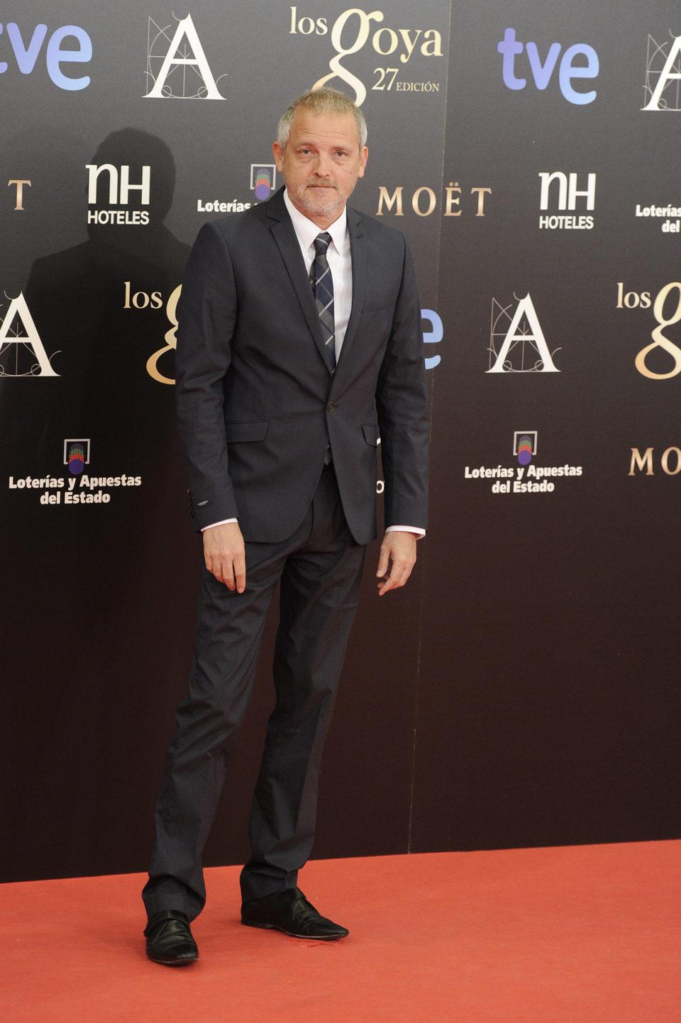 Jordi Rebellón en la alfombra roja los Goya 2013