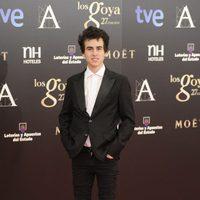 Àlex Monner en la alfombra roja los Goya 2013