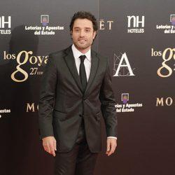 Daniel Guzmán en la alfombra roja de los Goya 2013
