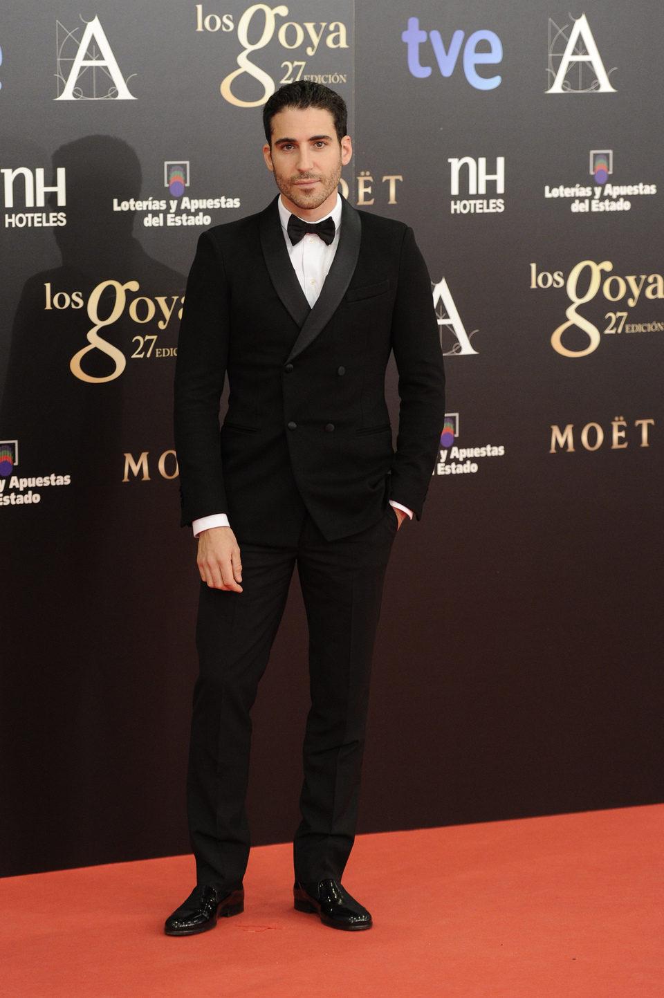 Miguel Ángel Silvestre en los Premios Goya 2013