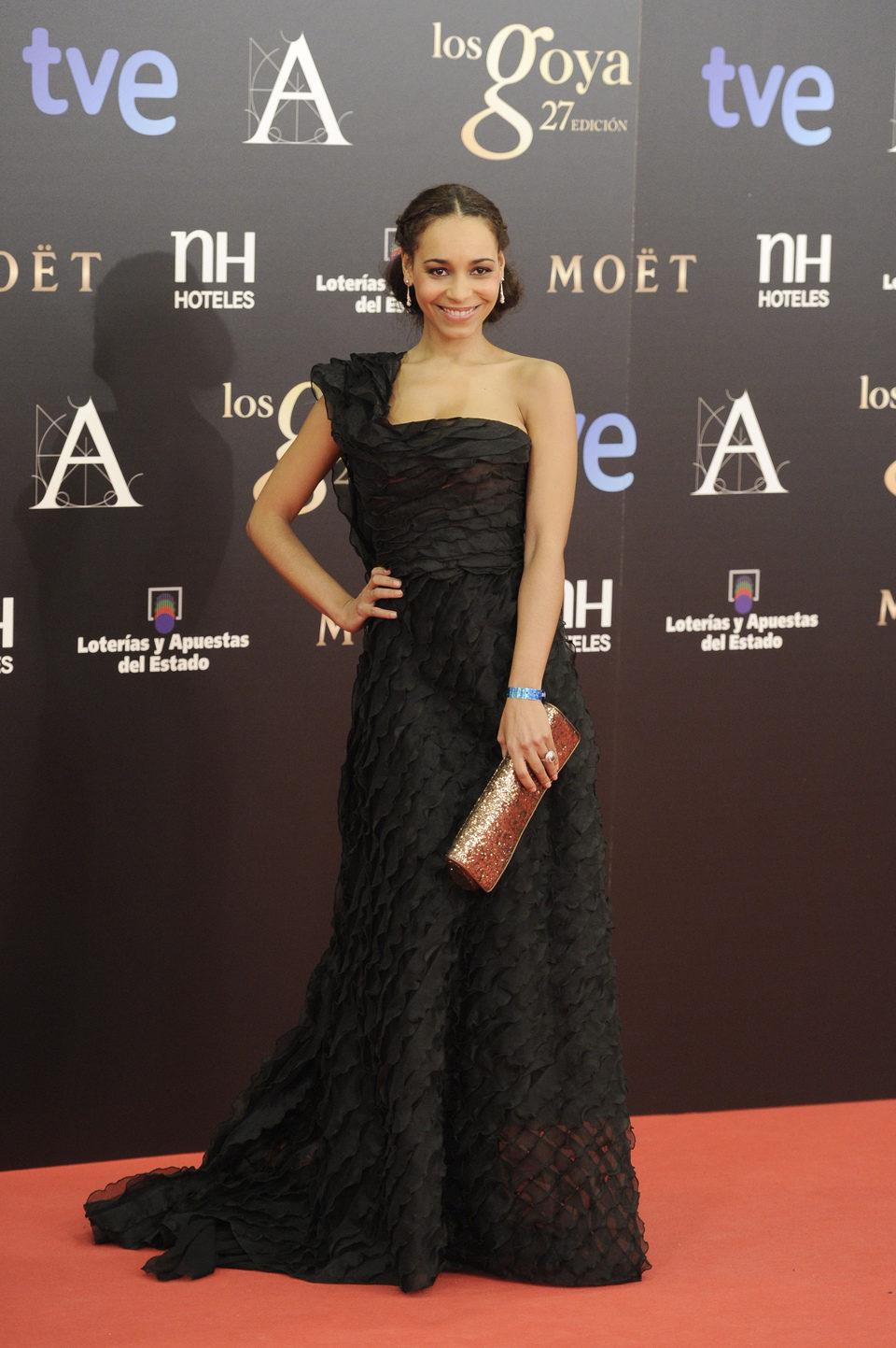Montse Pla en los Premios Goya 2013
