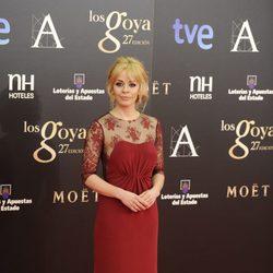 María Adánez en la alfombra roja de los Goya 2013