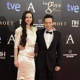 Beatriz Montañez y Gustavo Salmerón en la alfombra roja de los Goya 2013