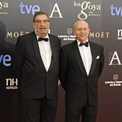 Enrique González Macho y José Ignacio Wert en los Goya