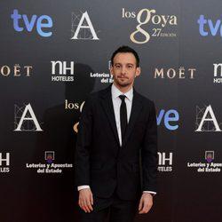 Alejandro Amenábar en la alfombra roja de los Goya 2013