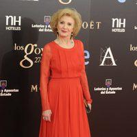 Marisa Paredes en la alfombra roja de los Goya 2013
