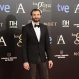 Julián Villagrán en la alfombra roja de los Goya 2013
