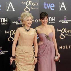 Kiti Mánver y Gisela en los Goya 2013