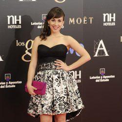 Alba García en la alfombra roja de los Goya 2013